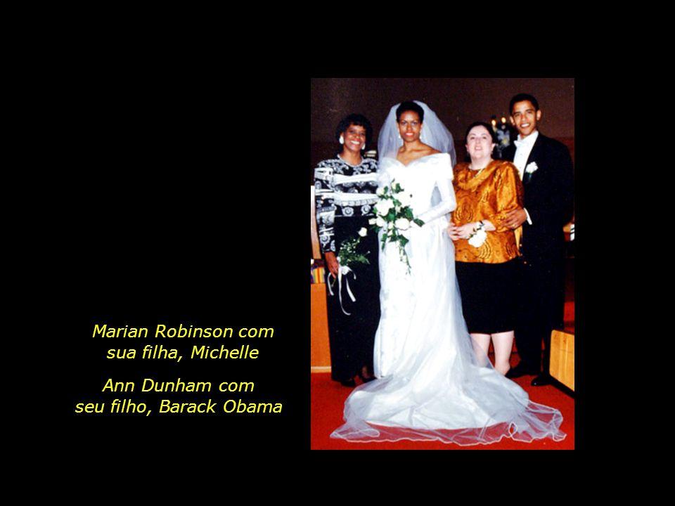 Marian Robinson com sua filha, Michelle