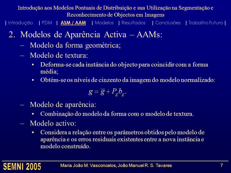 Maria João M. Vasconcelos, João Manuel R. S. Tavares