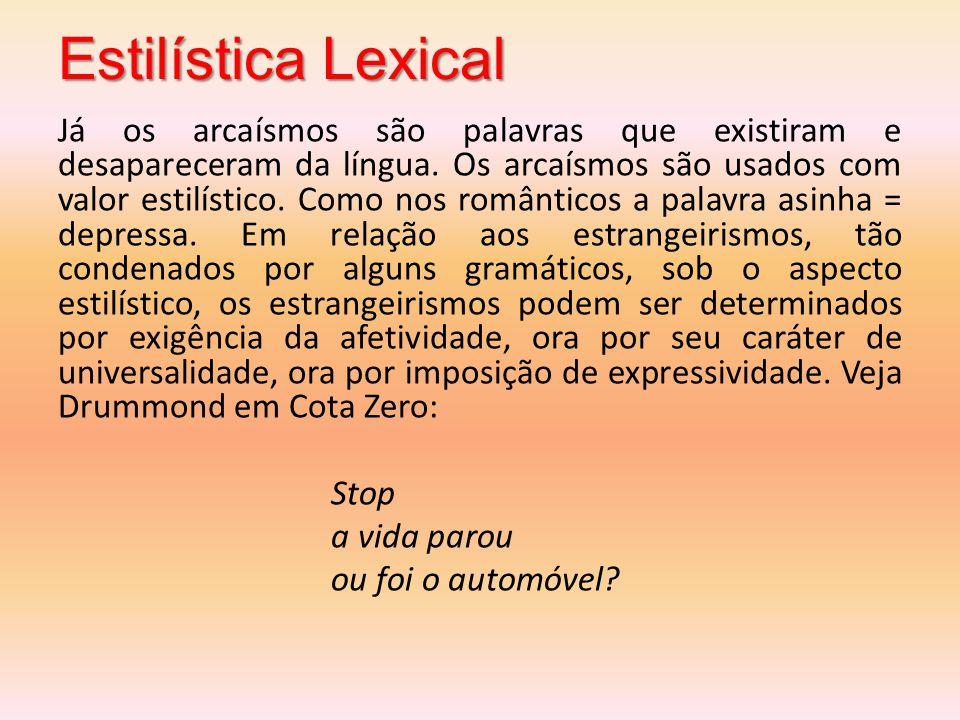 Estilística Lexical