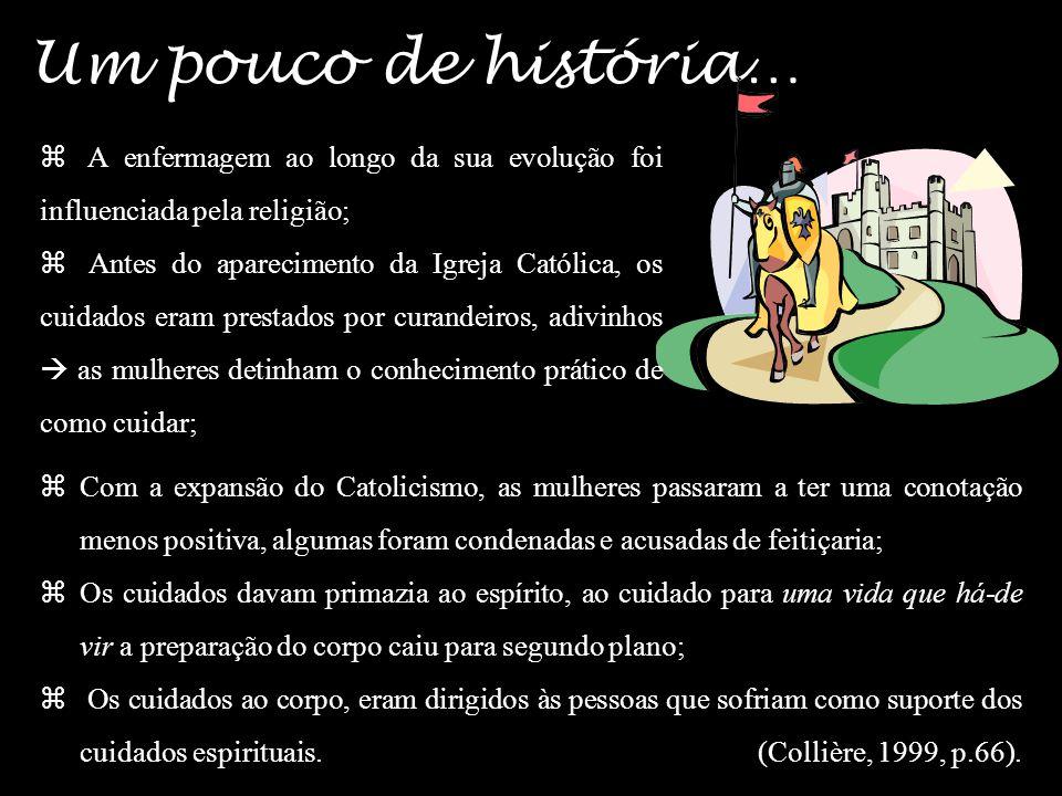 Um pouco de história… A enfermagem ao longo da sua evolução foi influenciada pela religião;