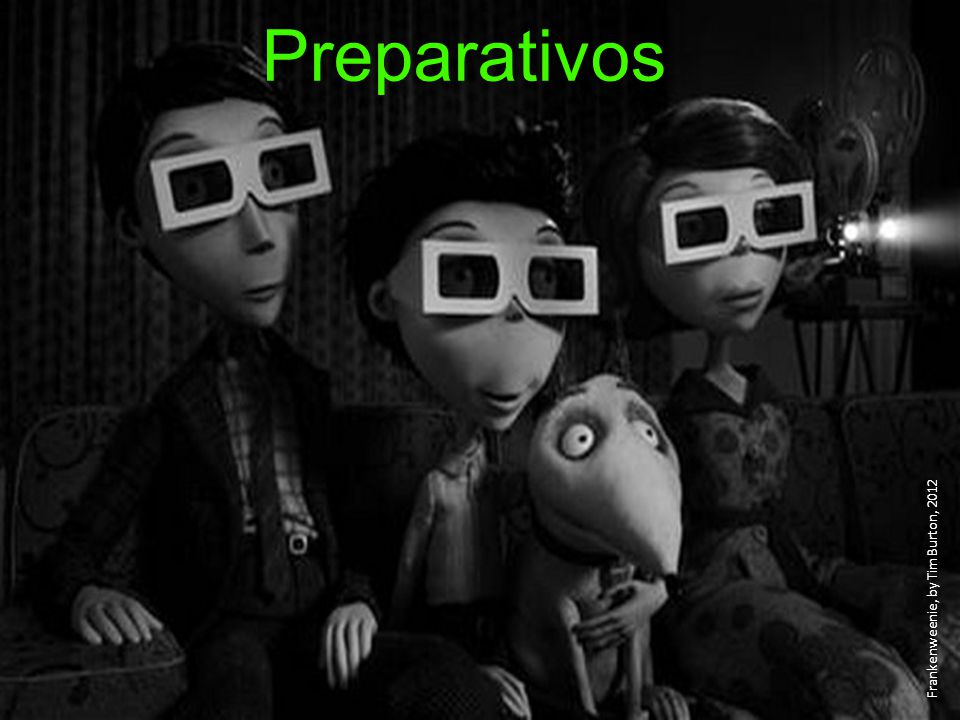 Preparativos Frankenweenie, by Tim Burton, 2012