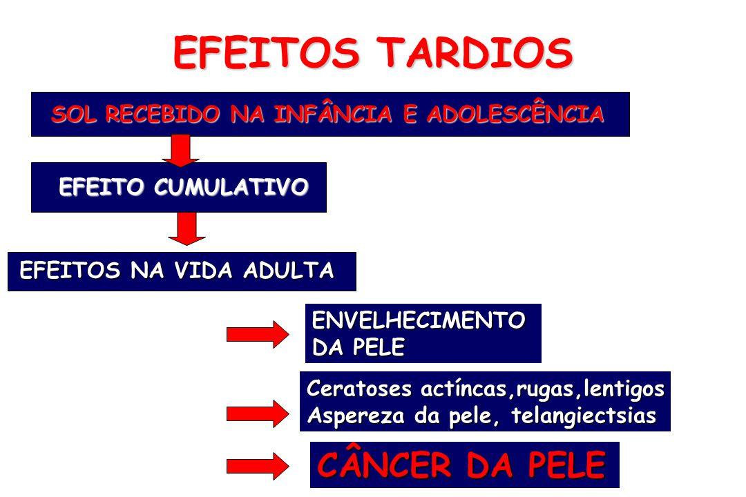 EFEITOS TARDIOS CÂNCER DA PELE SOL RECEBIDO NA INFÂNCIA E ADOLESCÊNCIA