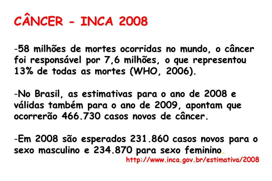 CÂNCER - INCA 2008
