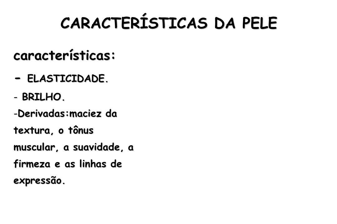 CARACTERÍSTICAS DA PELE