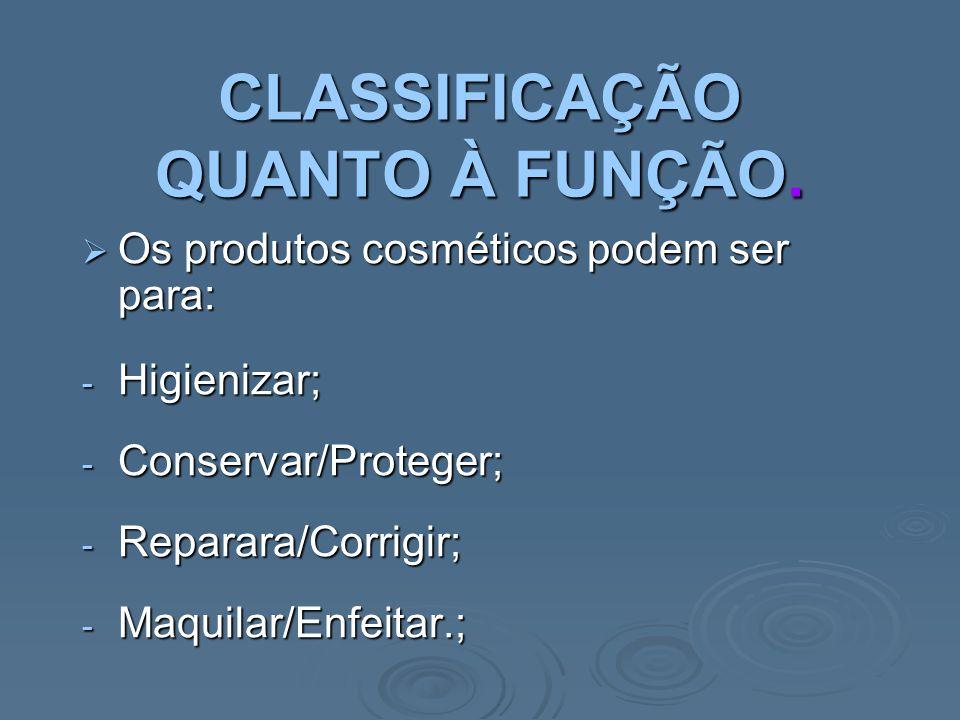 CLASSIFICAÇÃO QUANTO À FUNÇÃO.
