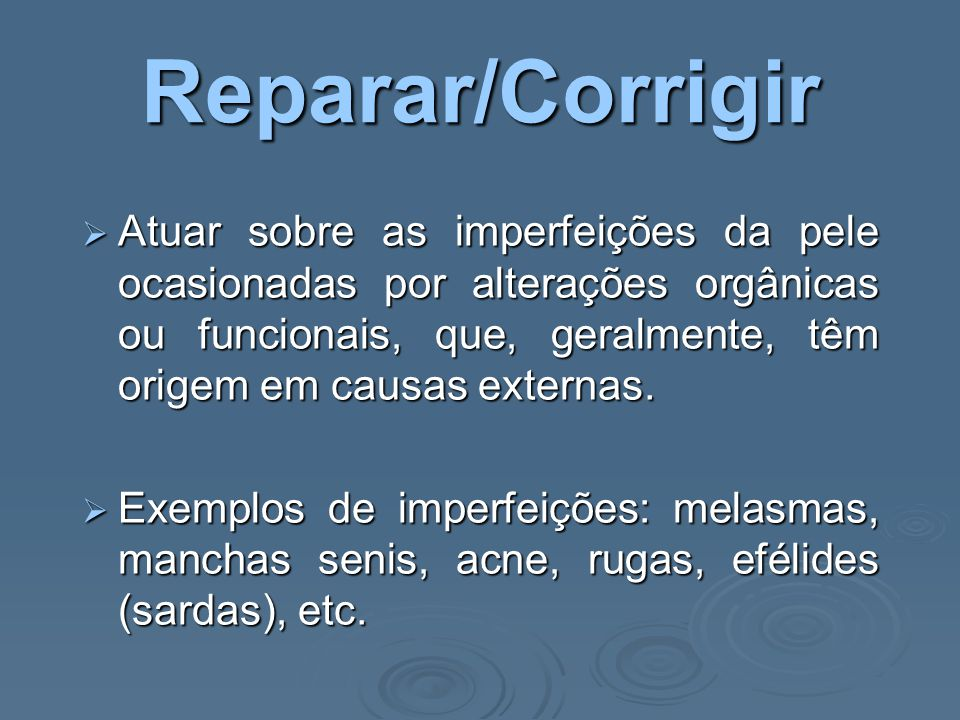Reparar/Corrigir