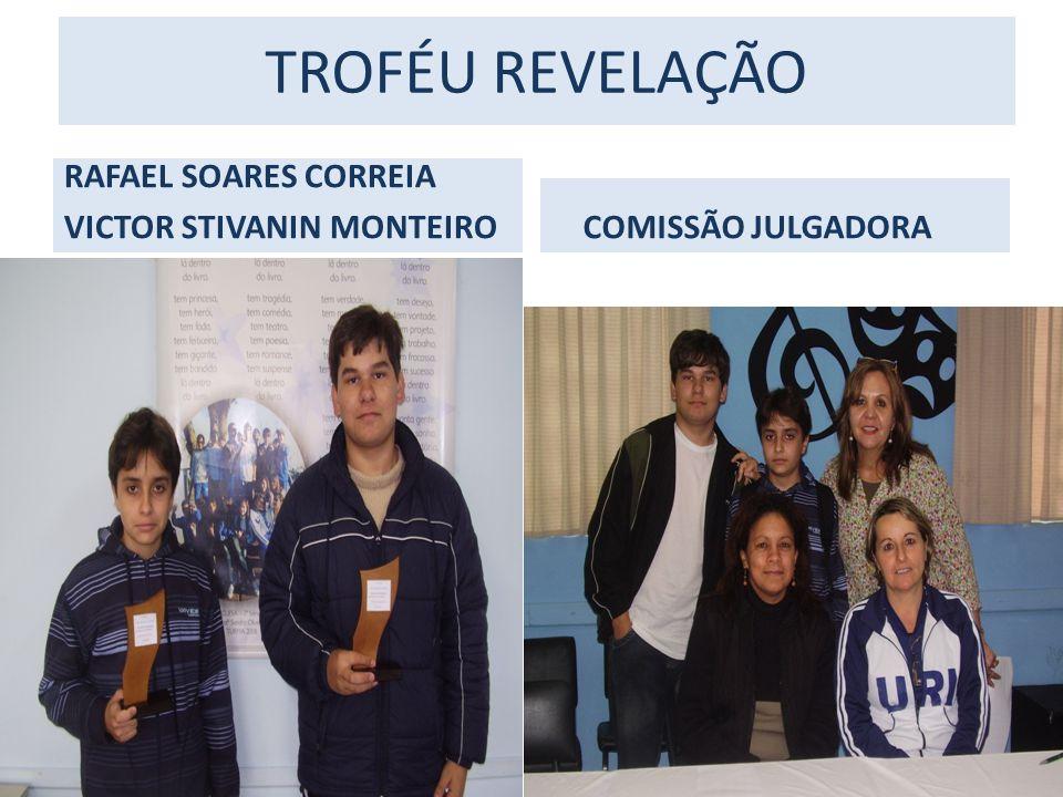 TROFÉU REVELAÇÃO RAFAEL SOARES CORREIA VICTOR STIVANIN MONTEIRO