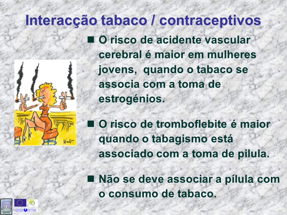 Interacção tabaco / contraceptivos