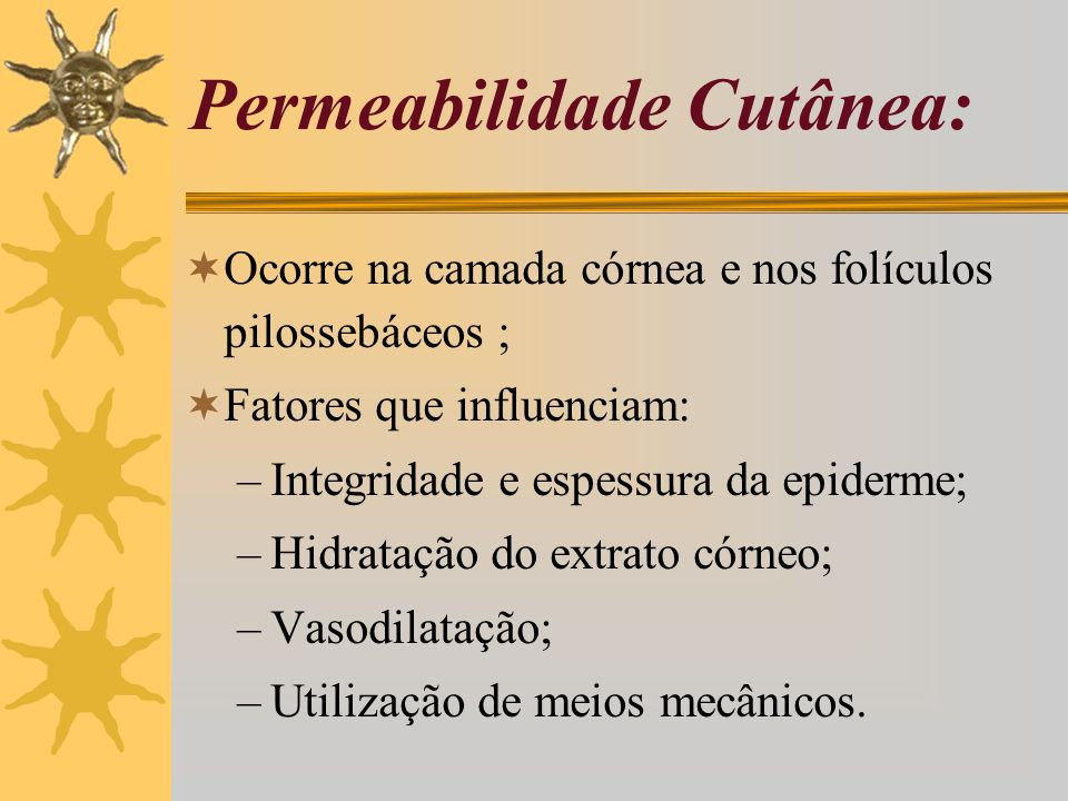 Permeabilidade Cutânea: