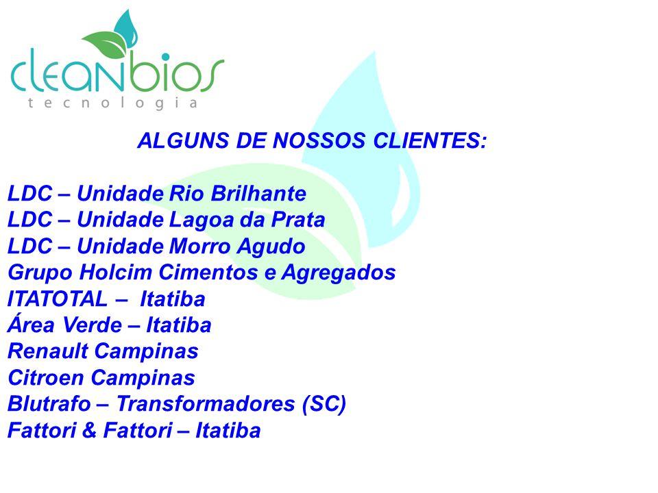 ALGUNS DE NOSSOS CLIENTES: