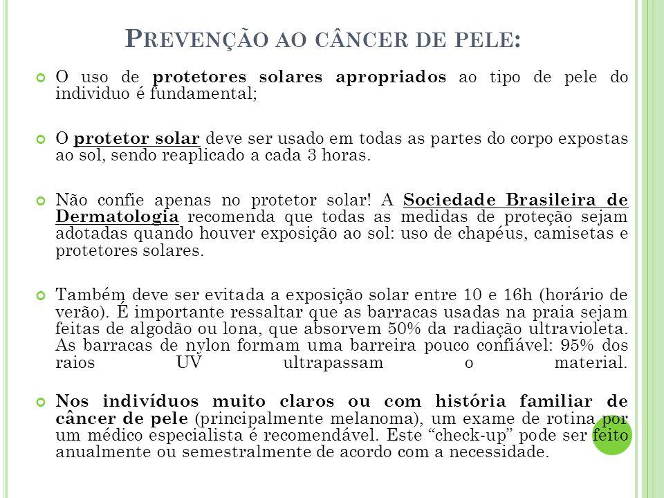 Prevenção ao câncer de pele: