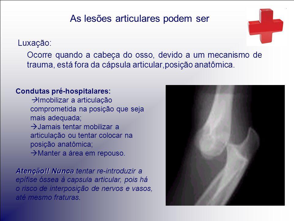 As lesões articulares podem ser