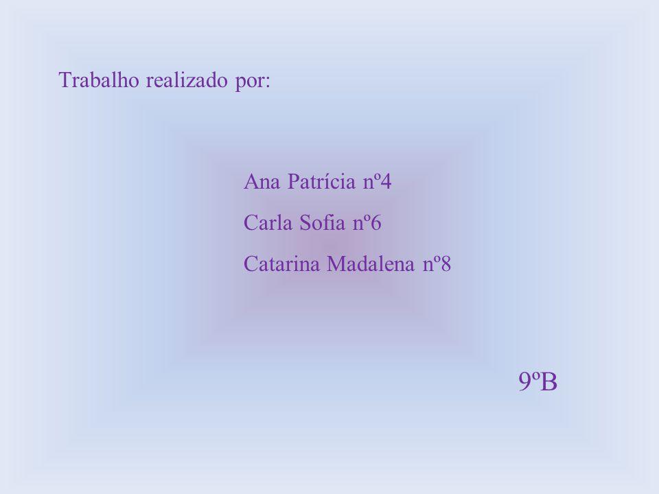 9ºB Trabalho realizado por: Ana Patrícia nº4 Carla Sofia nº6