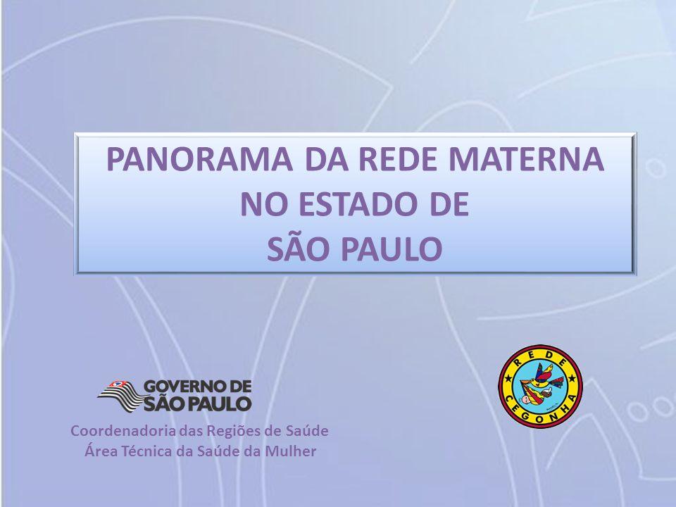 PANORAMA DA REDE MATERNA Área Técnica da Saúde da Mulher