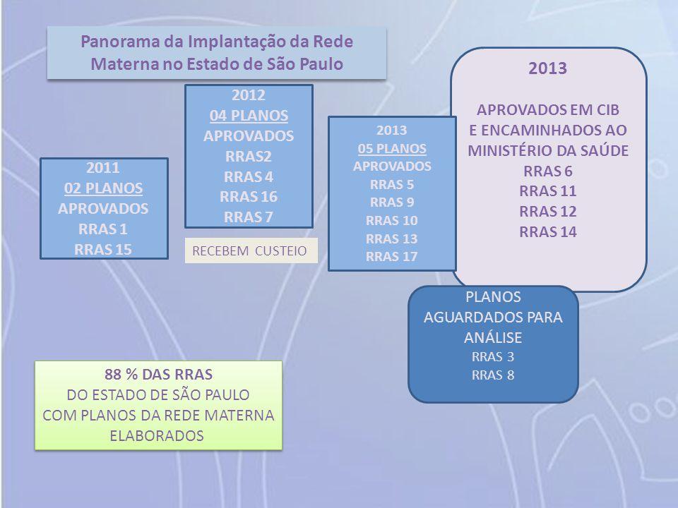 Panorama da Implantação da Rede Materna no Estado de São Paulo 2013