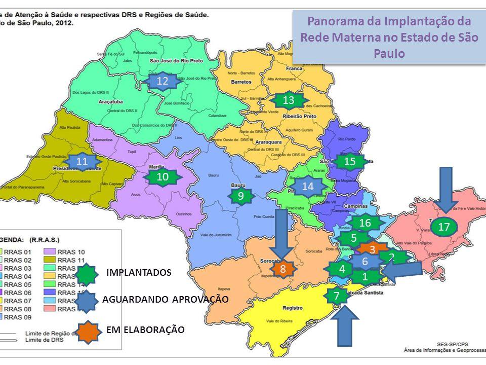 Panorama da Implantação da Rede Materna no Estado de São Paulo