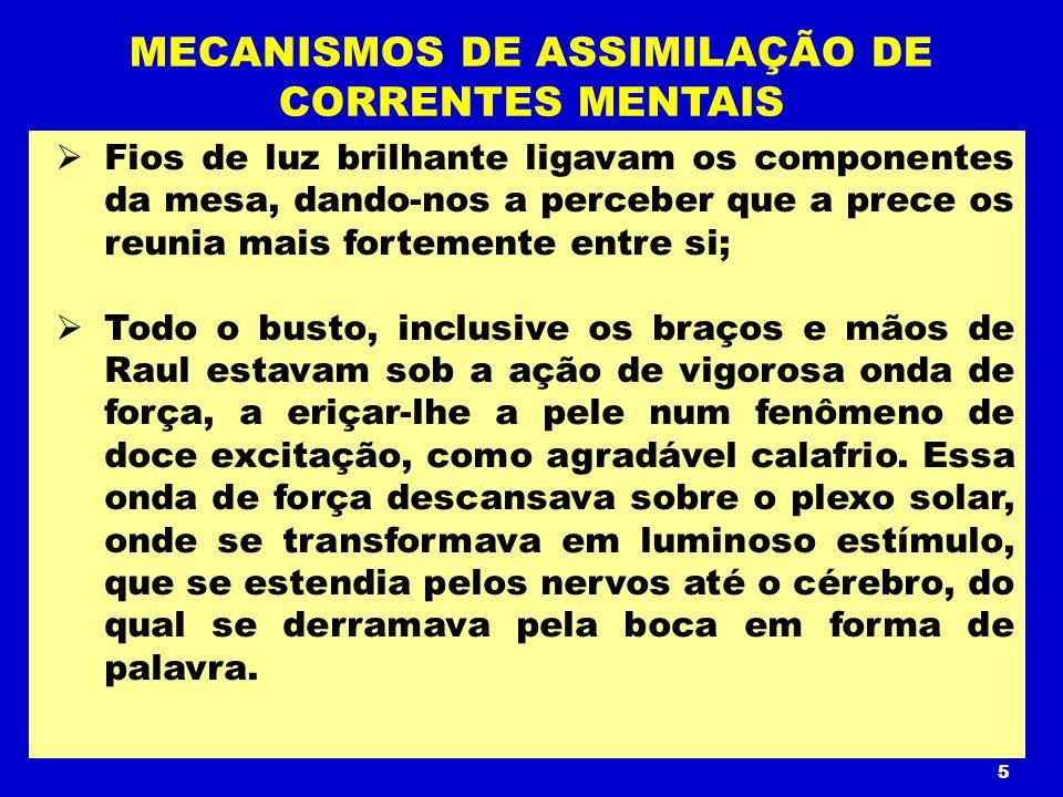 MECANISMOS DE ASSIMILAÇÃO DE