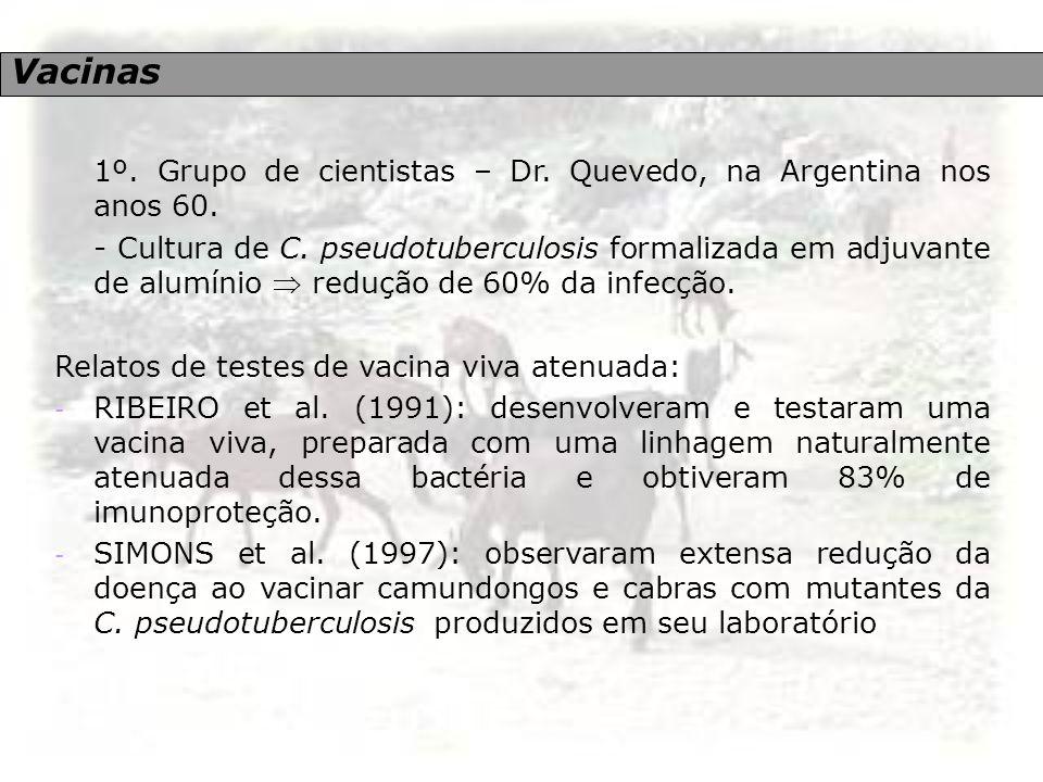 Vacinas 1º. Grupo de cientistas – Dr. Quevedo, na Argentina nos anos 60.