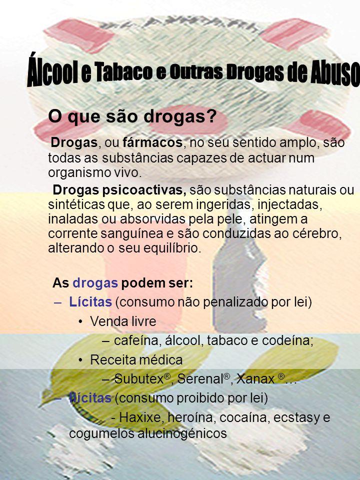 Álcool e Tabaco e Outras Drogas de Abuso