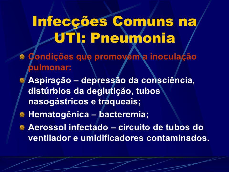 Infecções Comuns na UTI: Pneumonia