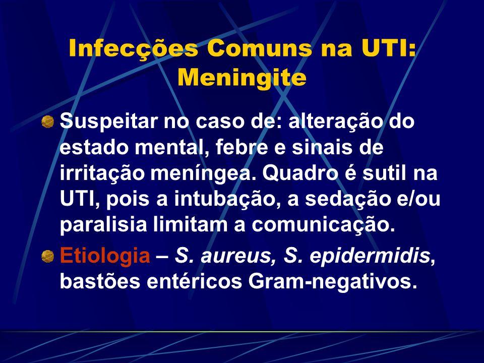Infecções Comuns na UTI: Meningite