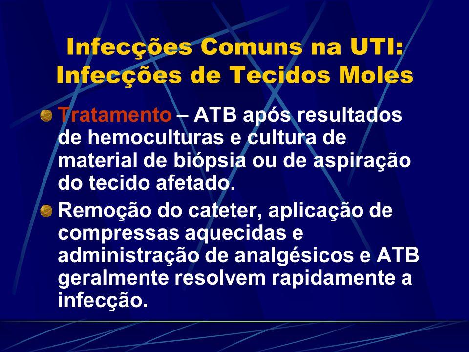 Infecções Comuns na UTI: Infecções de Tecidos Moles
