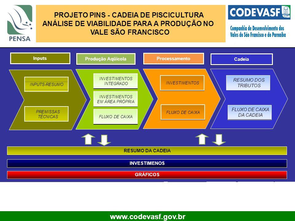 PROJETO PINS - CADEIA DE PISCICULTURA