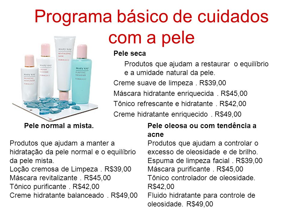 Programa básico de cuidados com a pele
