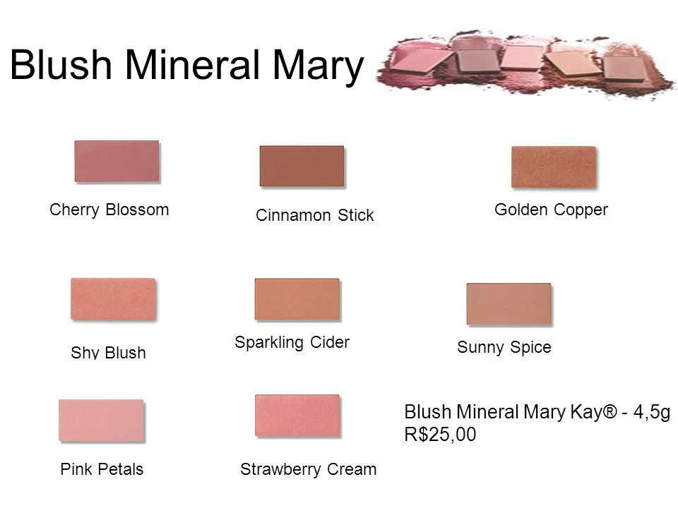 Blush Mineral Mary Kay Blush Mineral Mary Kay® - 4,5g R$25,00