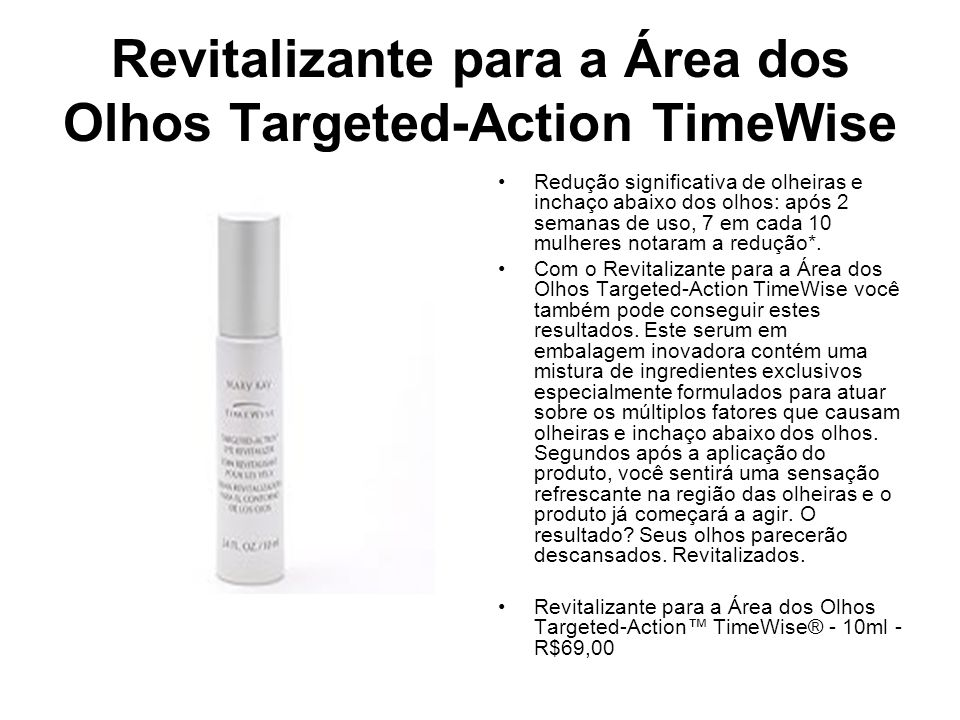 Revitalizante para a Área dos Olhos Targeted-Action TimeWise