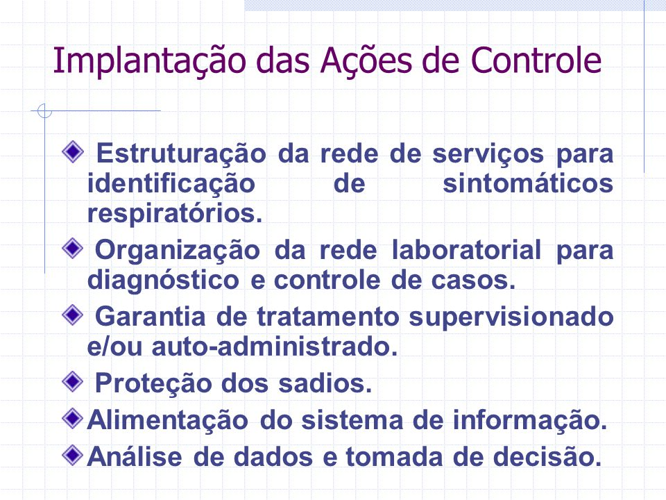 Implantação das Ações de Controle