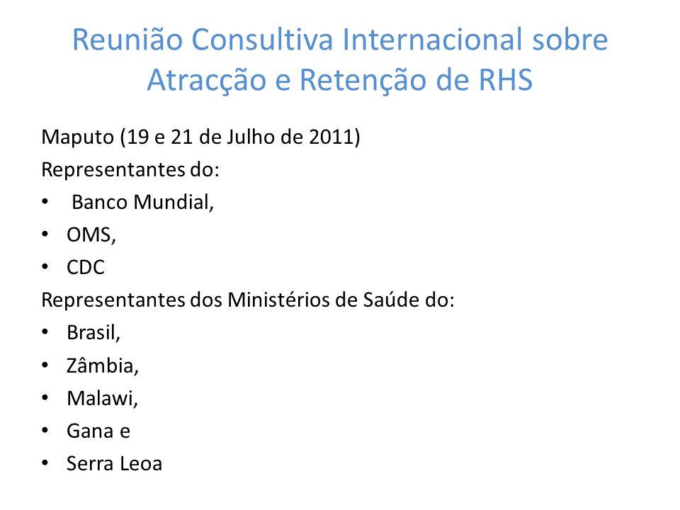 Reunião Consultiva Internacional sobre Atracção e Retenção de RHS