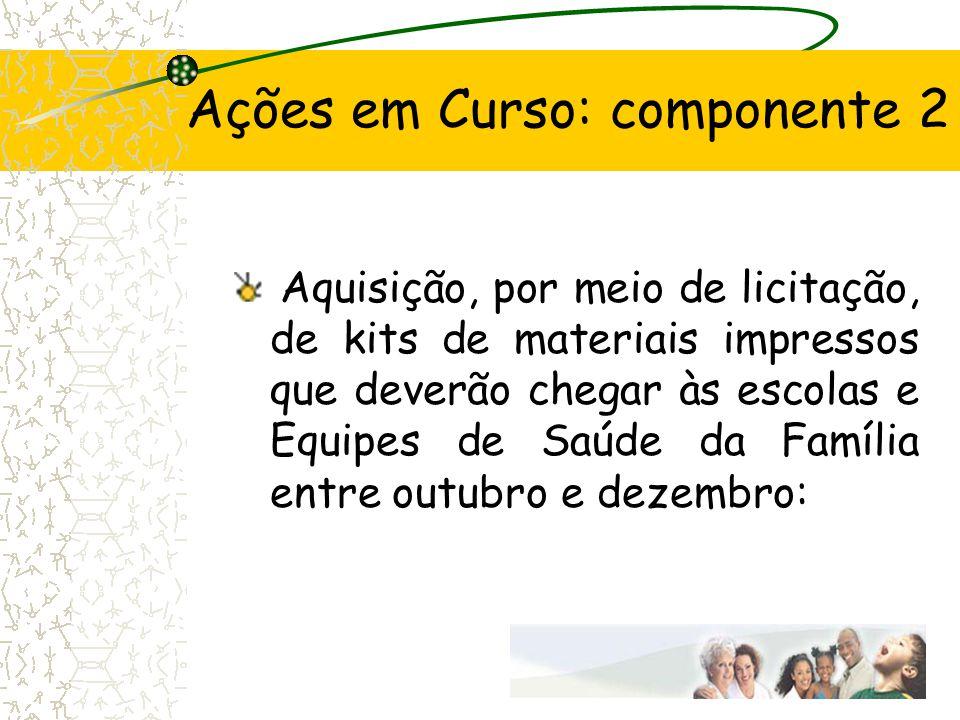 Ações em Curso: componente 2