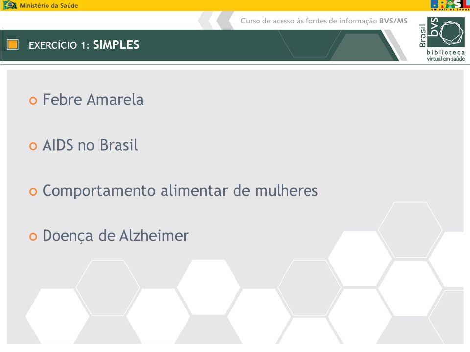 Comportamento alimentar de mulheres Doença de Alzheimer