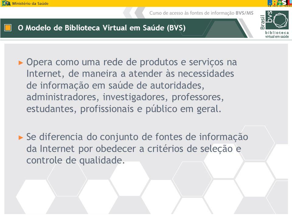 O Modelo de Biblioteca Virtual em Saúde (BVS)