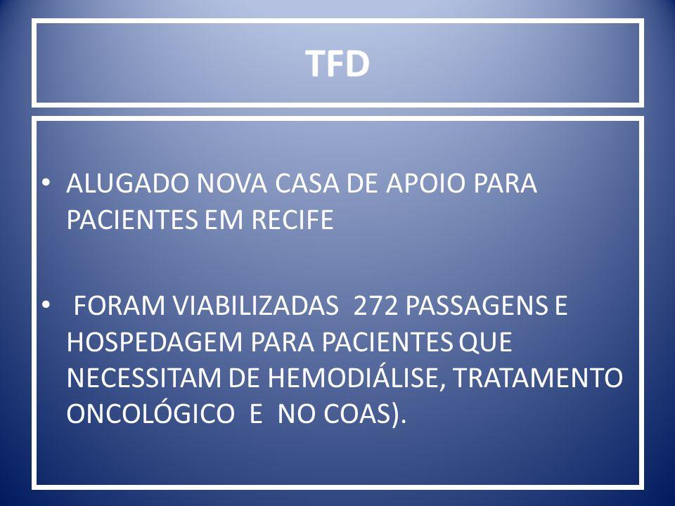 TFD ALUGADO NOVA CASA DE APOIO PARA PACIENTES EM RECIFE