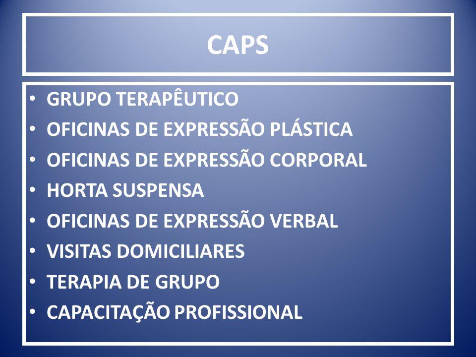 CAPS GRUPO TERAPÊUTICO OFICINAS DE EXPRESSÃO PLÁSTICA