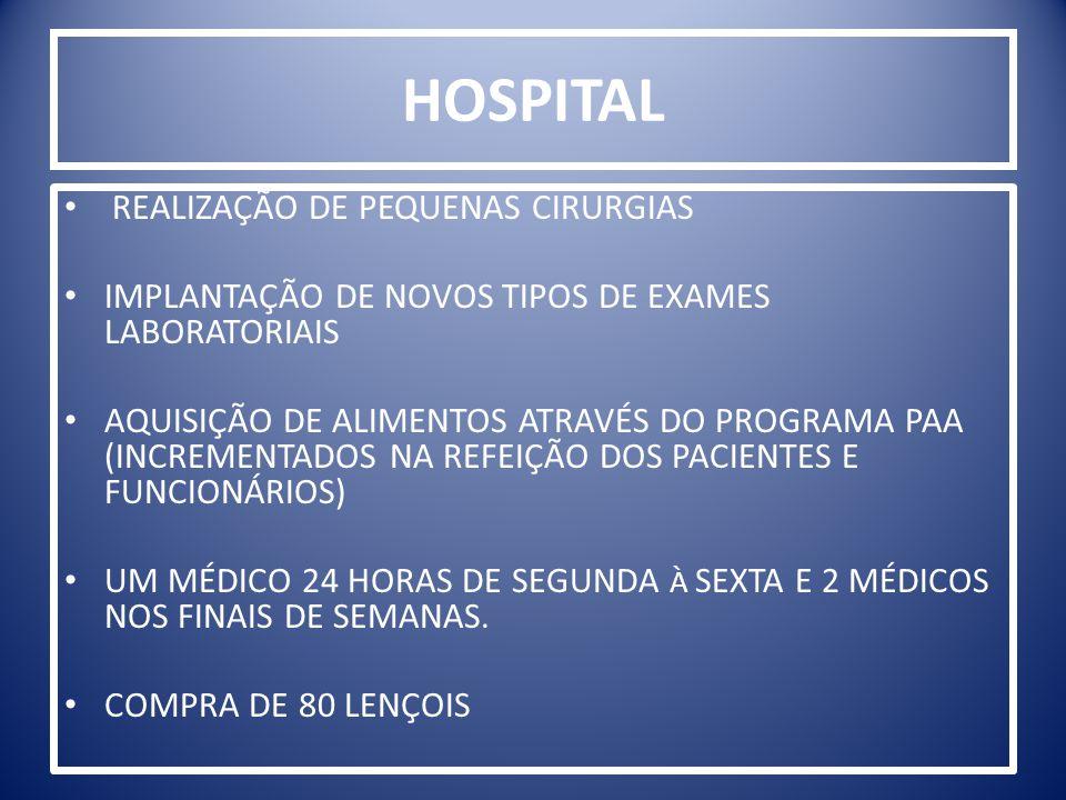 HOSPITAL REALIZAÇÃO DE PEQUENAS CIRURGIAS