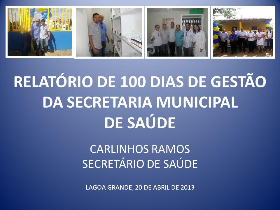 RELATÓRIO DE 100 DIAS DE GESTÃO DA SECRETARIA MUNICIPAL DE SAÚDE