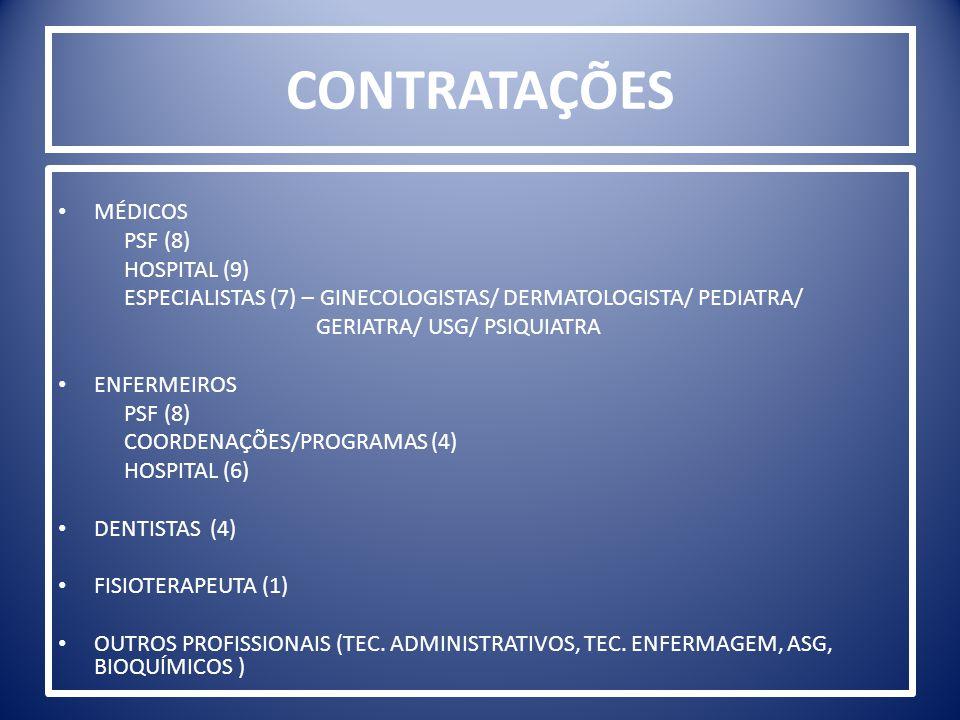 CONTRATAÇÕES MÉDICOS PSF (8) HOSPITAL (9)