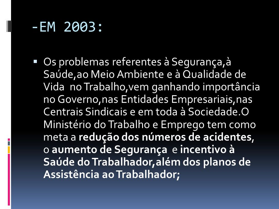-EM 2003: