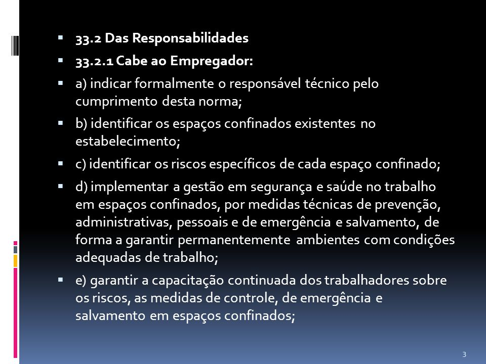 33.2 Das Responsabilidades
