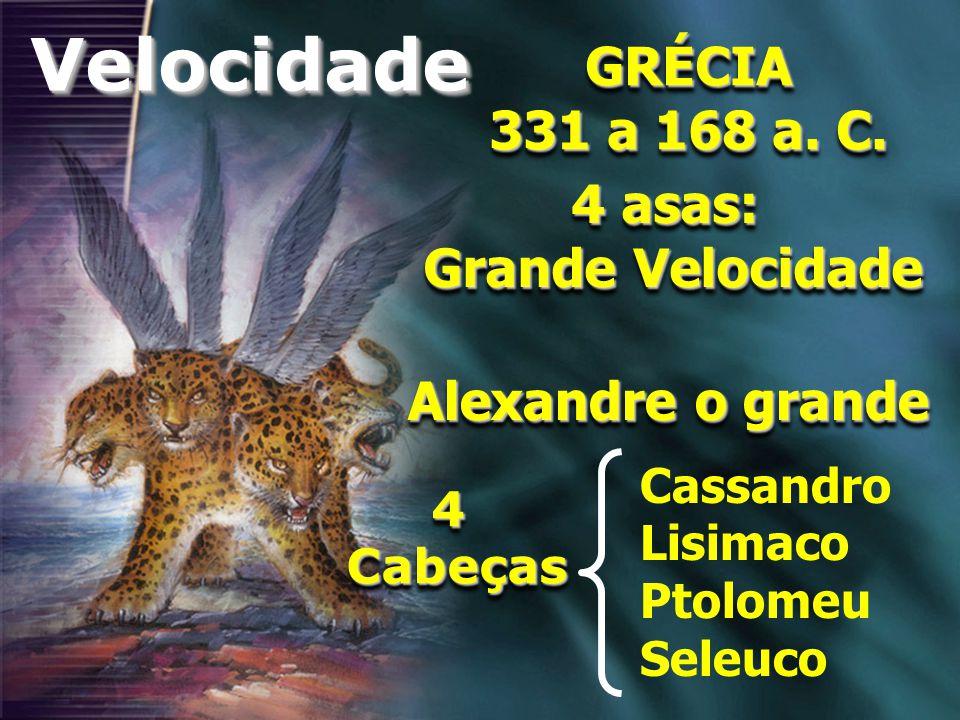 Velocidade GRÉCIA 331 a 168 a. C. 4 asas: Grande Velocidade