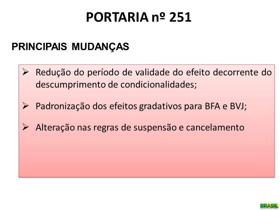 PORTARIA nº 251 PRINCIPAIS MUDANÇAS