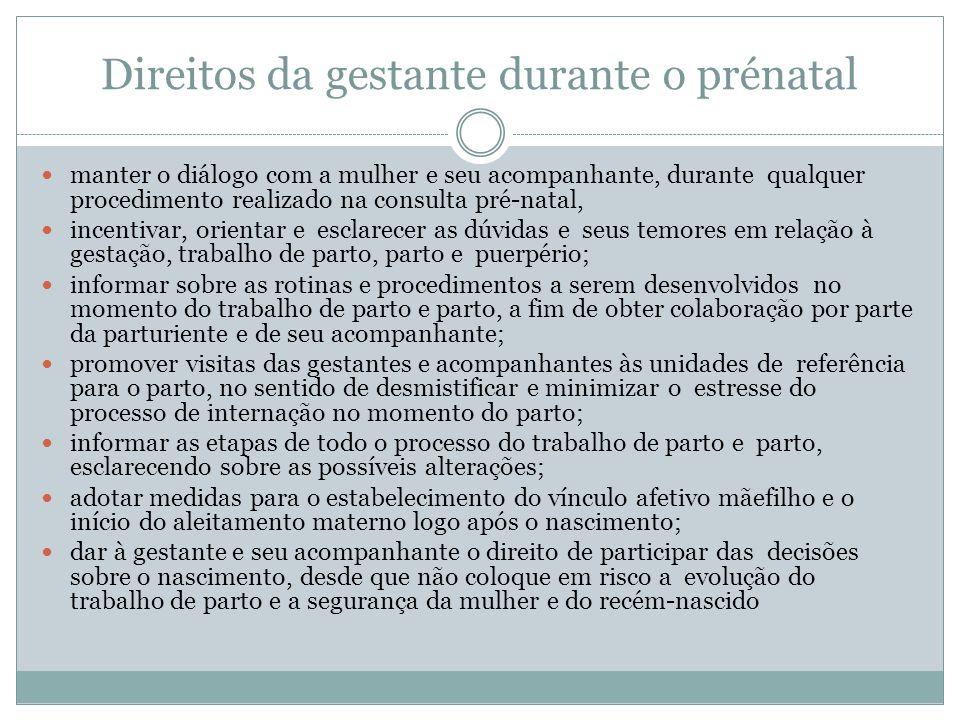 Direitos da gestante durante o prénatal
