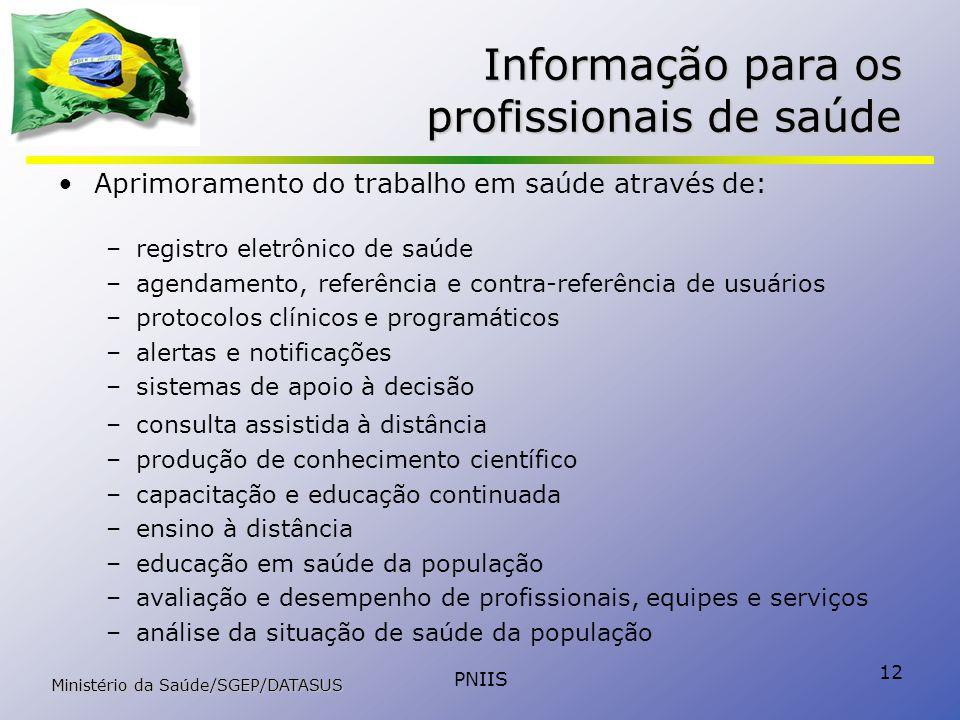 Informação para os profissionais de saúde