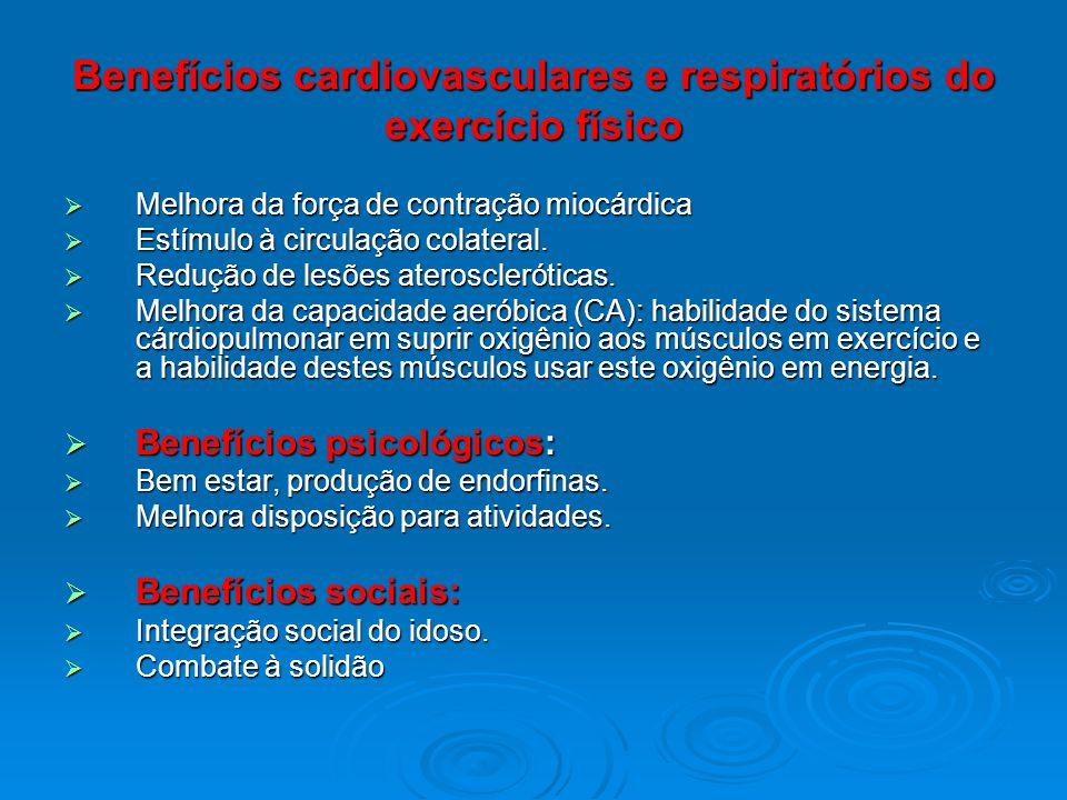 Benefícios cardiovasculares e respiratórios do exercício físico