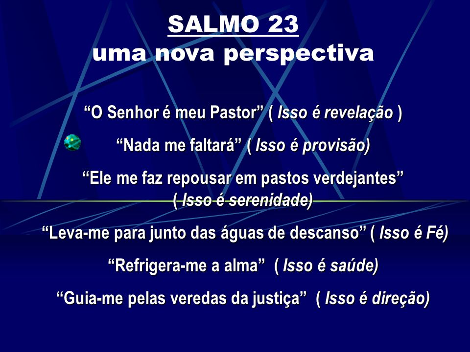 SALMO 23 uma nova perspectiva