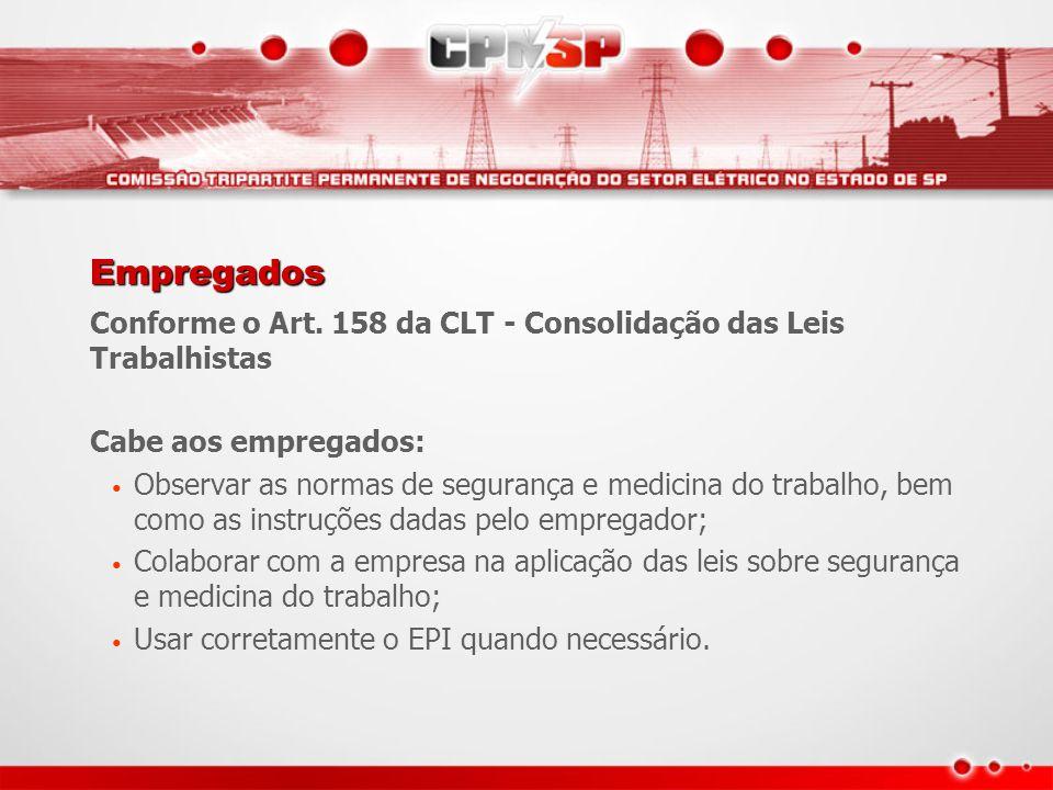 Empregados Conforme o Art. 158 da CLT - Consolidação das Leis Trabalhistas. Cabe aos empregados: