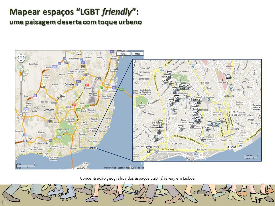Concentração geográfica dos espaços LGBT friendly em Lisboa